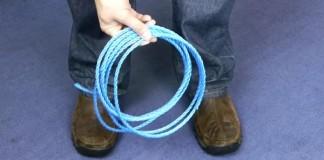 ako prerezat lano bez pouzitia noza