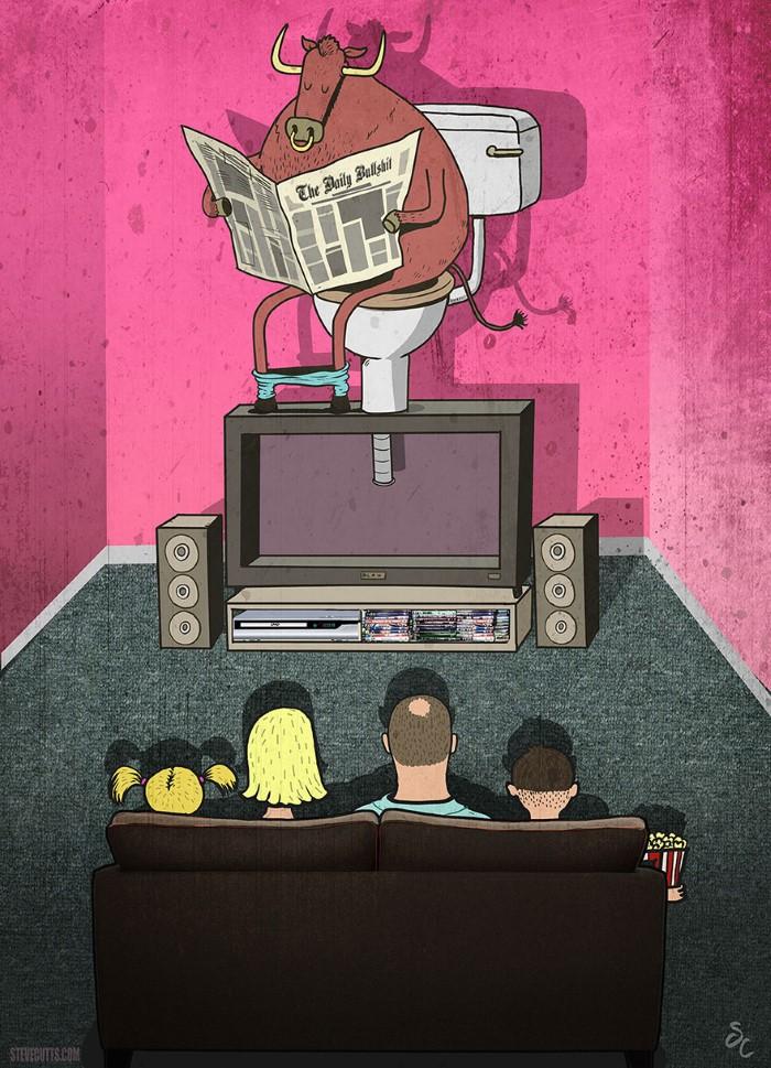 Steve Cutts ilustracie znazornujuce dnesny svet 12