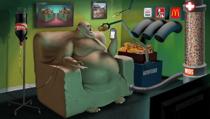 Steve Cutts ilustracie znazornujuce dnesny svet 3