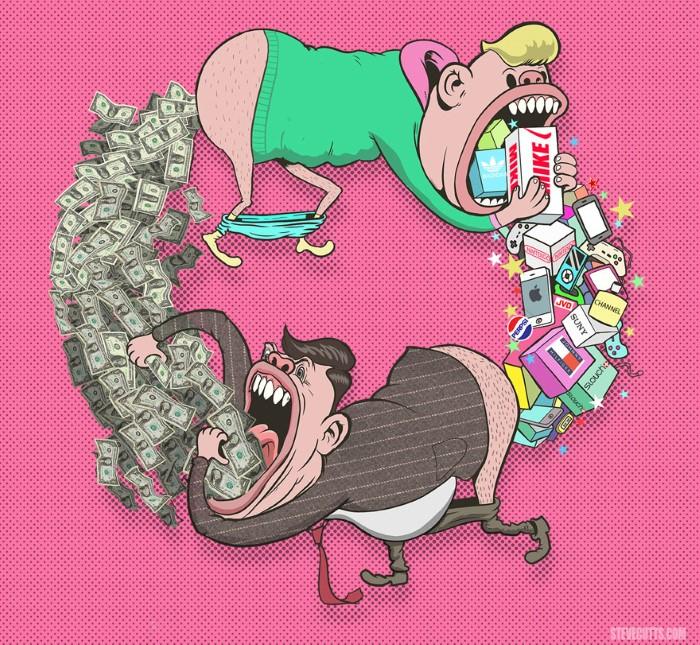 Steve Cutts ilustracie znazornujuce dnesny svet 4