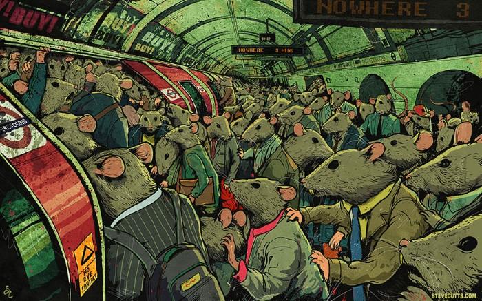 Steve Cutts ilustracie znazornujuce dnesny svet 5