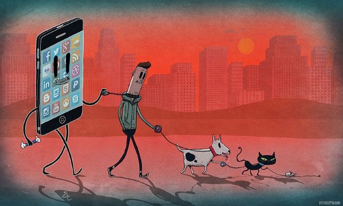 Steve Cutts ilustracie znazornujuce dnesny svet 7