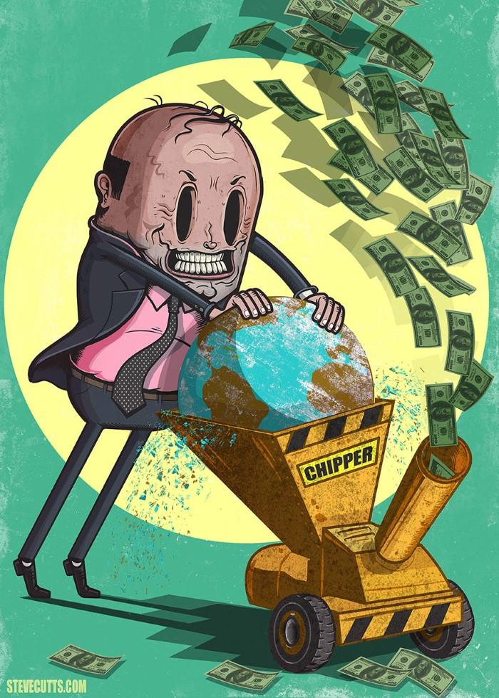 Steve Cutts ilustracie znazornujuce dnesny svet 8
