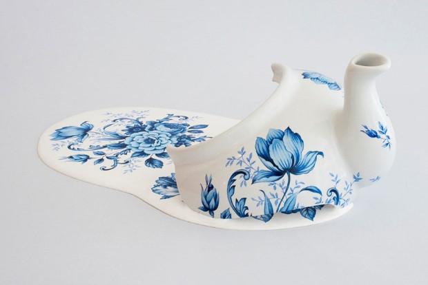 Livia Marin meni rozbity porcelan tekutym efektom na umenie 14
