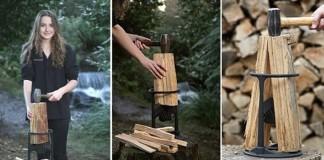 13 ročná slečna vymyslela šikovnú štiepačku na palivové drevo. Hlavne jednoducho a bezpečne!