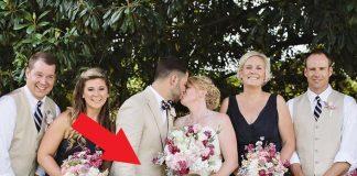 Novomanželia si počas fotenia mali dať bozk. Prekazila im to malá družička!