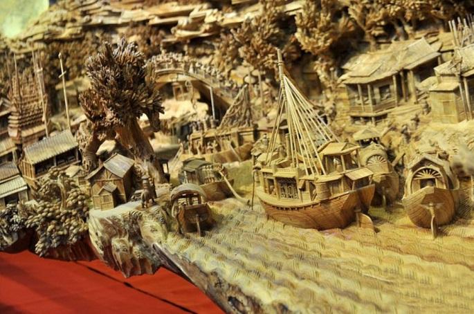 Zhen Chunhui najväcsie dielo vyrezane do dreva 4