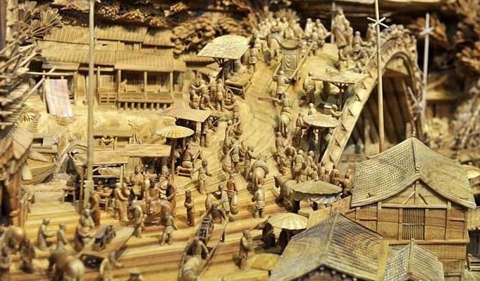 Zhen Chunhui najväcsie dielo vyrezane do dreva 6