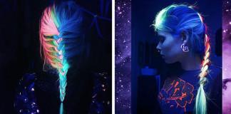 Ďalší trend účesov: Fosforeskujúce vlasy žiariace v tme