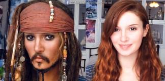 Alyson Tabbitha ako Jack Sparrow